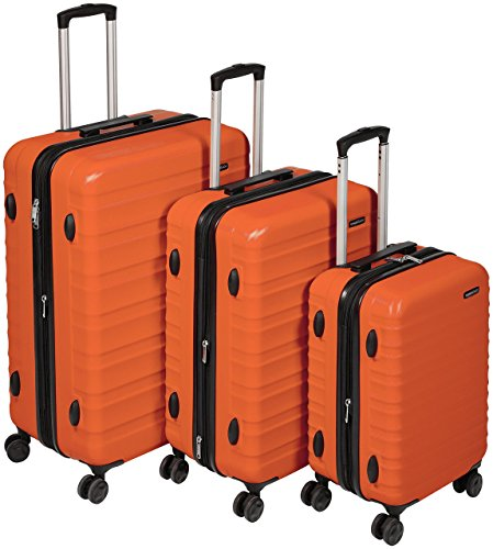 Amazon Basics Hartschalen – kofferset – 3-teiliges Set (55 cm, 68 cm, 78 cm), orange