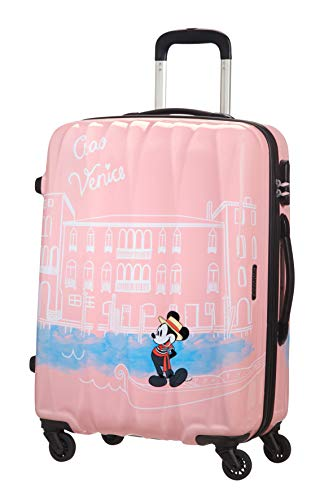 American Tourister Disney Legends – Spinner M – Kindergepäck, 65 cm, 62,5 L, rosa (Take Me Away Mickey Venice)