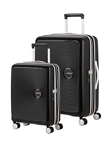 American Tourister Soundbox – Kofferset, 67 cm, 81 L, Black/White