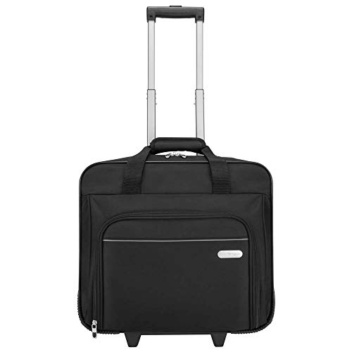 Targus TBR003EU Executive Rolling Laptop Case – Notebook-Tasche, Nylon 15,9 Zoll (40,6 cm) Schwarz