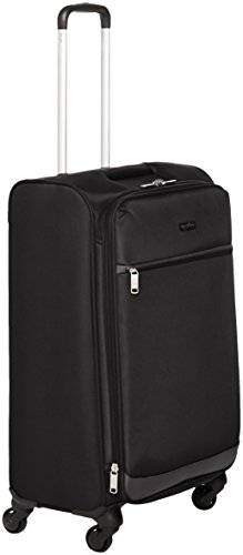 Amazon Basics – Roll-Reisetrolley, 64 cm, Schwarz